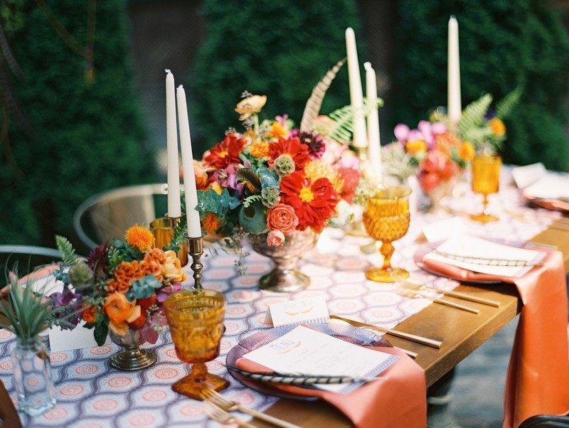 Фото декора праздничного стола