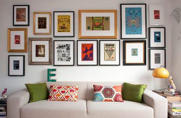 Размещение картин на стене