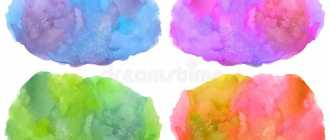 разноцветные пятна