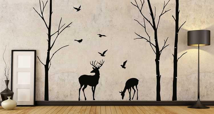 Рисунки на стене своими руками, фото