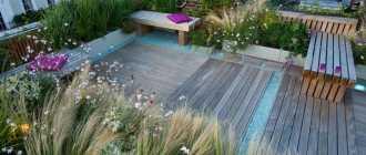 Сад и терраса на крыше